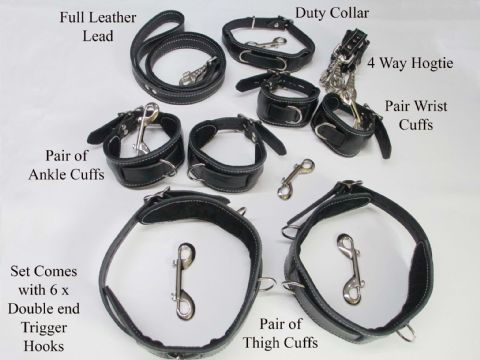Black English Bridle Leather After Dark Play Set